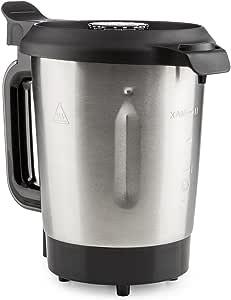KLARSTEIN Foodcircus Jarra de Mezcla (Recipiente de Repuesto, Capacidad de 2 litros, Acero Inoxidable, Accesorio Robot de Cocina) - Mango Negro: Amazon.es