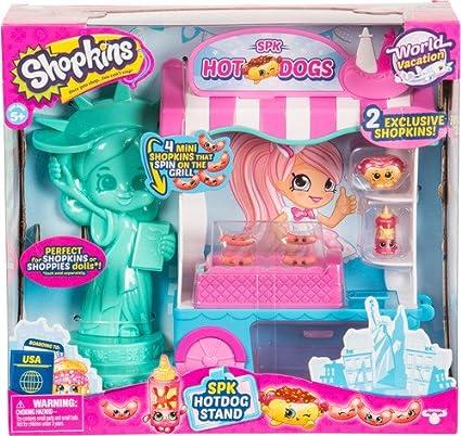 Amazon Com Shopkins Season 8 Usa Hotdog Stand Playset Toys Games