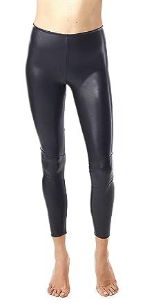 8f7298db0101cd Commando Leggings - SLG13 (Black, Large) at Amazon Women's Clothing ...