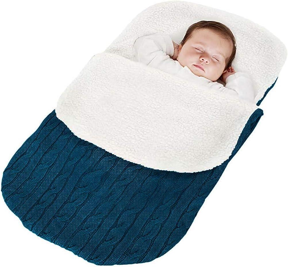 Minetom Saco de Dormir de Punto Felpa para Bebé Recién Nacido de 0 ...