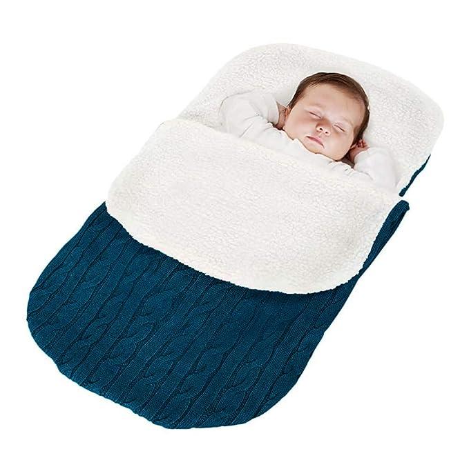Minetom Saco de Dormir de Punto Felpa para Bebé Recién Nacido de 0 – 24 Meses