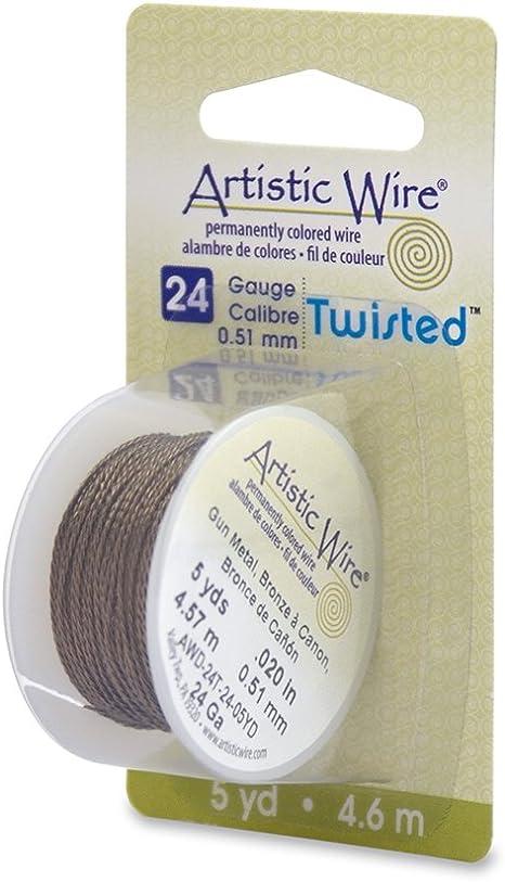 Beadalon 24-Gauge Twist Round Artistic Wire Stainless Steel 10-Yard