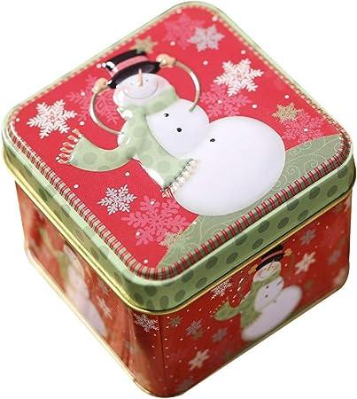 Scatola Latta Biscotti Natale.Sarplle Scatole Per Biscotti Scatola Per Biscotti In Latta Di Natale In Metallo Pupazzo Di Neve Babbo Natale Scatola Di Immagazzinaggio Grande Con Coperchio Per Dolci Biscotti Biscotti Amazon It Fai Da Te