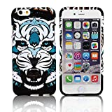 iPhone 6 6s Case,CLOUDS [Night Luminous Glow] Luxury Fashion Cool Cute Tiger HD Vintage Tribe Stripe Animal Pattern Design Premium TPU Rubber Silicone Gel Slim Flexible Durable Soft Protective Case Cover for Apple iPhone 6 6s 4.7inch-Retail Packging-Colorful Tiger
