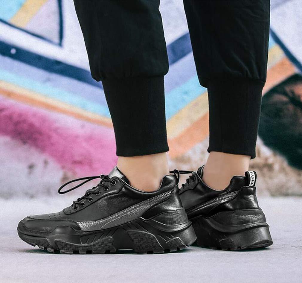 H&Y Herrenschuhe, Studentische Slip-Ons Running Running Running Schuhe, Outdoor-Klikschnecken Wanderschuhe Trekking Travel schuhe,schwarz,44 5cb339