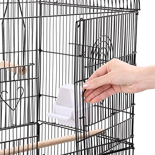 Yaheetech 36'' Metal Bird Cage Parrot Finch Cage Macaw Cockatoo Pet Play w/Perch Stand by Yaheetech (Image #7)
