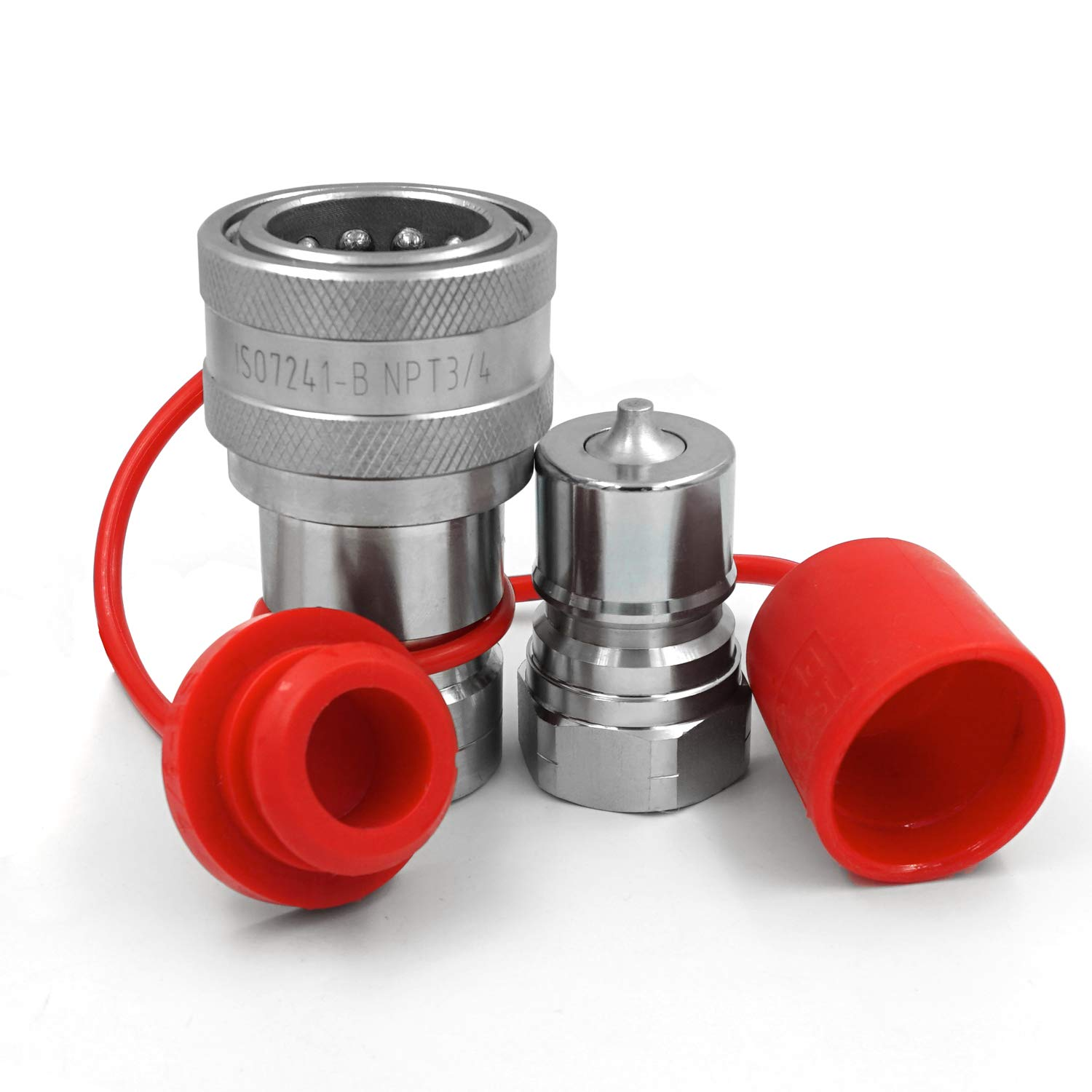 3/4'' NPT Thread ISO7241 B Hydraulic Quick Disconnect Coupler/Coupling Set