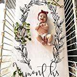 """Baby Monthly Milestone Blanket with 100% Cotton,Newborn Baby Swaddling Month Blanket for Photography - 57"""" x 30"""" Size (A#)"""
