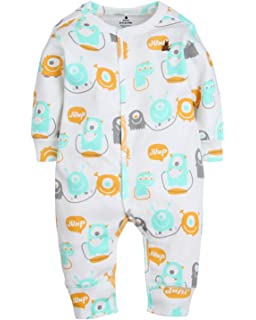 3698f71a7 Piccalilly Unisex Rainbow Ark Footless Baby Sleepsuit Organic Cotton ...