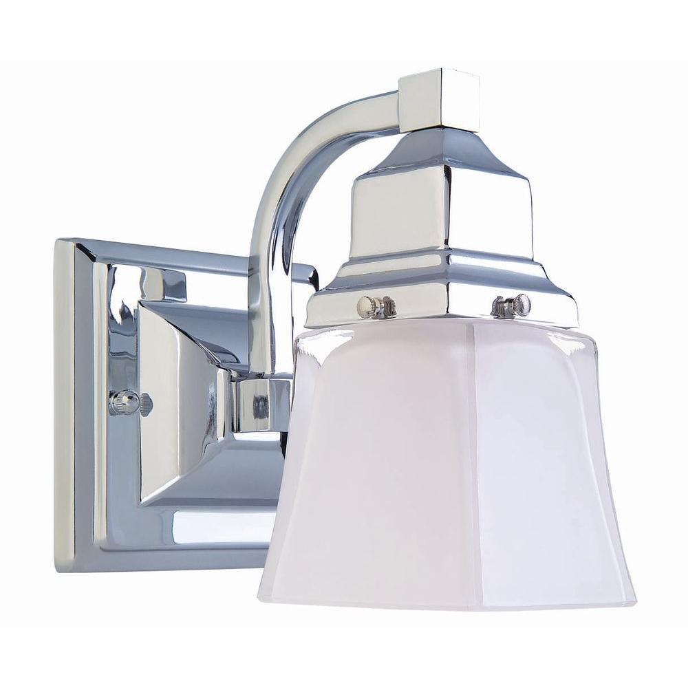 Hampton Bay 1-Light Chrome Bath Light The Home Depot 05658 9058600250 1 Unit