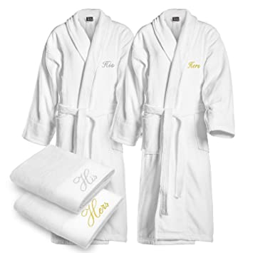 f61f27d5f5 Amazon.com  Kaufman - Terry Cloth Bathrobes 100% Cotton - His and ...