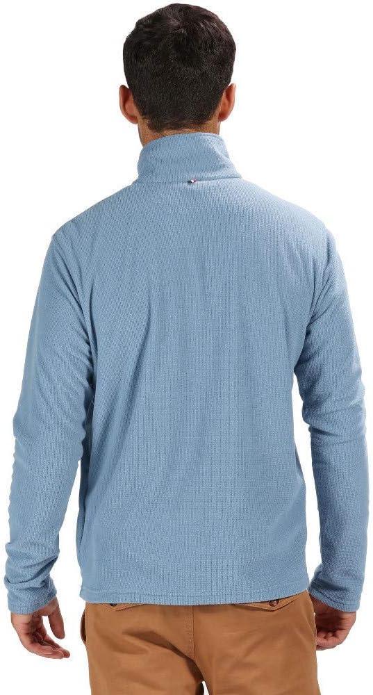 Regatta Mens Elgor Lightweight Zip Neck Overhead Mini Grid Fleece