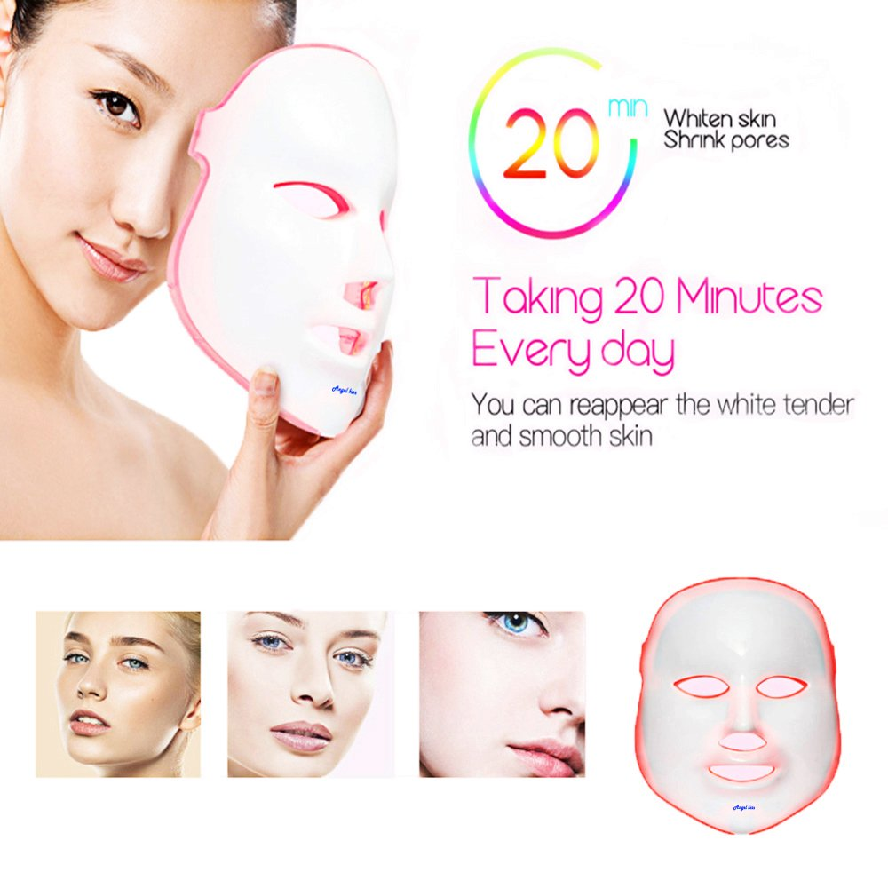 Angel Kiss LED Photon Therapy 7 Color Light Treatment Skin Rejuvenation Whitening Facial Beauty Daily Skin Care Mask (Mask+ Portable Function Board) by Angel Kiss (Image #6)