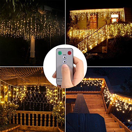 480 Led Icicle Christmas Lights in US - 3