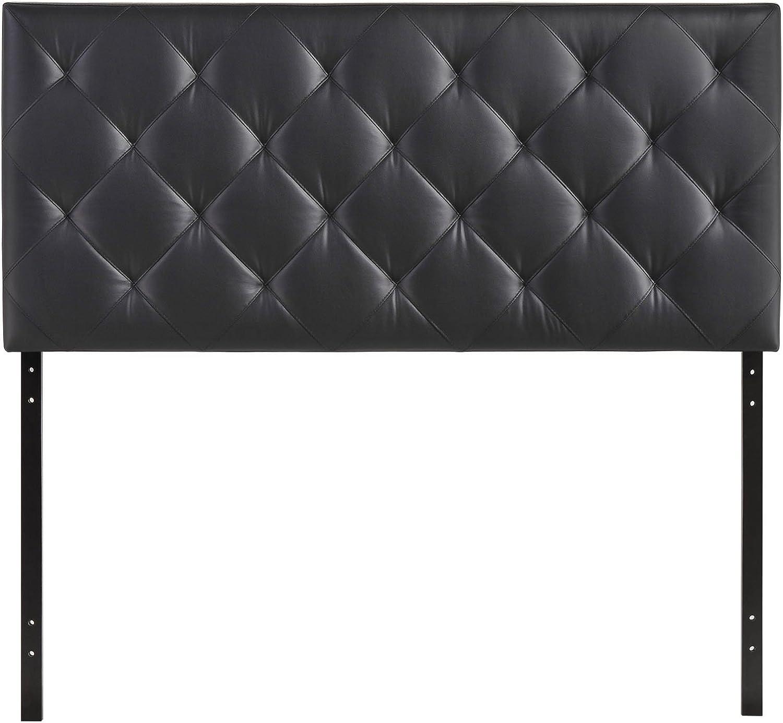 Modway Theodore Queen Upholstered Vinyl Headboard in Black