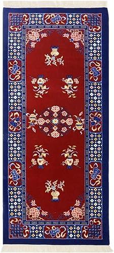 Yilong Carpet Vintage Runner Rugs Art Deco Handmade Wool Chinese Rug 2.5 x6 Red