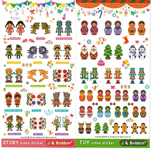 [DECO FAIRY] Cute Little Prince Princess Story Cartoon Index Stickers