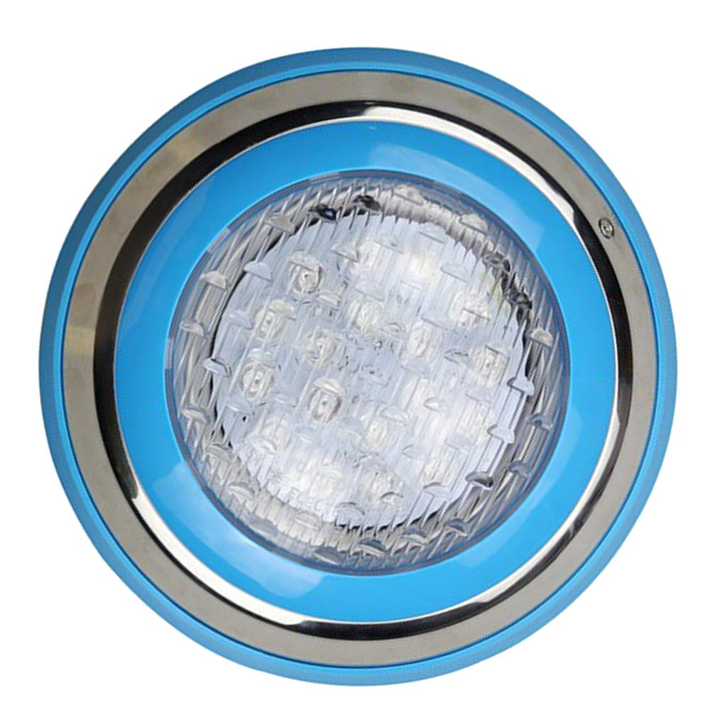 Fityle Swimming Pool LED Light AC 12V/24V 9W/12W RGB Underwater Lights,Stainless Steel, IP68 Waterproof - 18 W by Fityle (Image #6)