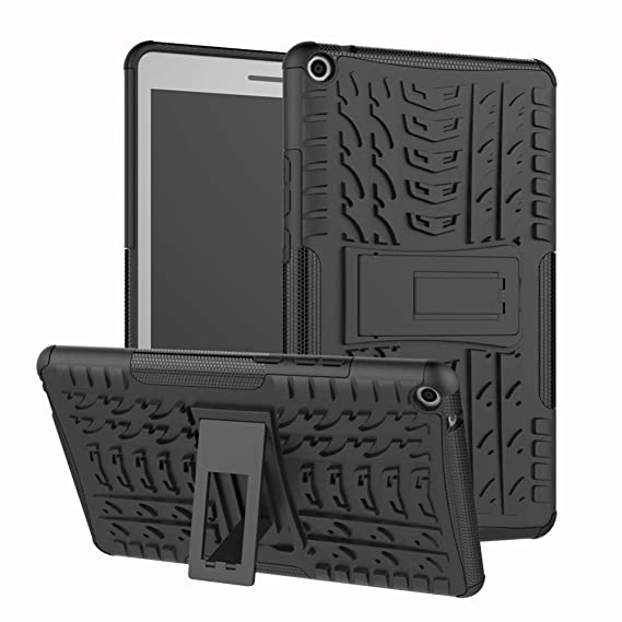 hot sales 2f039 a6285 MediaPad T3 10 9.6 Inch Case Hybrid DWaybox Rugged Heavy Duty Armor Hard  Back Cover Case with Kickstand for Huawei MediaPad T3 10 9.6 Inch (Black)