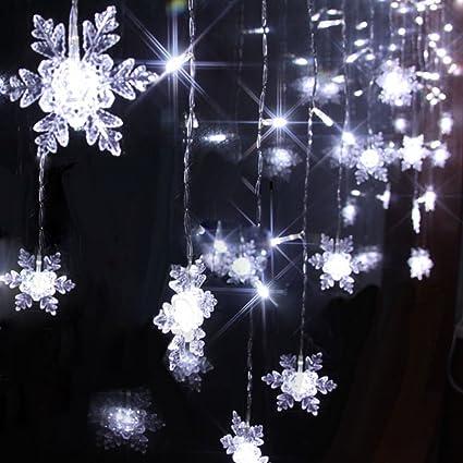 Snowflake Christmas Lights.104 Leds 8 Mode 2m X 1m Led Light Snowflake Style Indoor