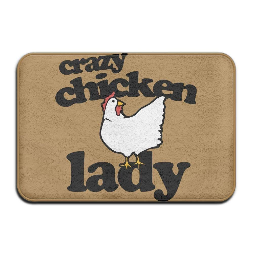Highest Quality Materials Memory Foam Bath Mat Crazy Chicken Lady Super Cozy Bathroom Rug by bearbeey