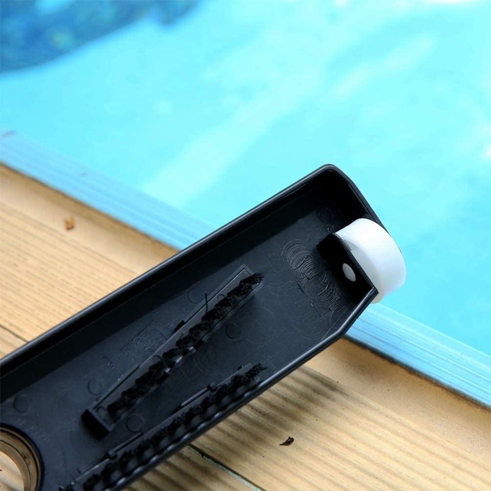Yardwe Swimming Pool Vacuum Head Pool Cleaning Brush Head Weighted Attachment for Inground and Above Ground Swimming Pools Accessory Black