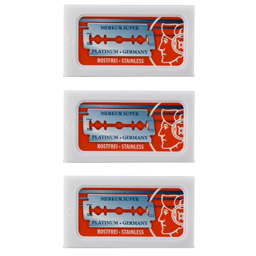 Merkur Combo Razor Blades, 30-Pack