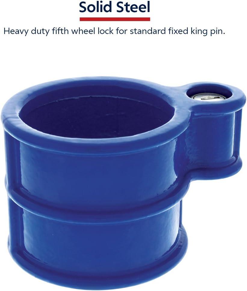 OKLEAD Anti Theft King Pin Lock Heavy Duty Coupler Lock for Tractor Trailers Rv 5th Wheel Camper