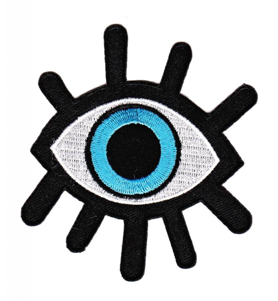 Bestellmich - Parche para plancha con motivo de ojo azul