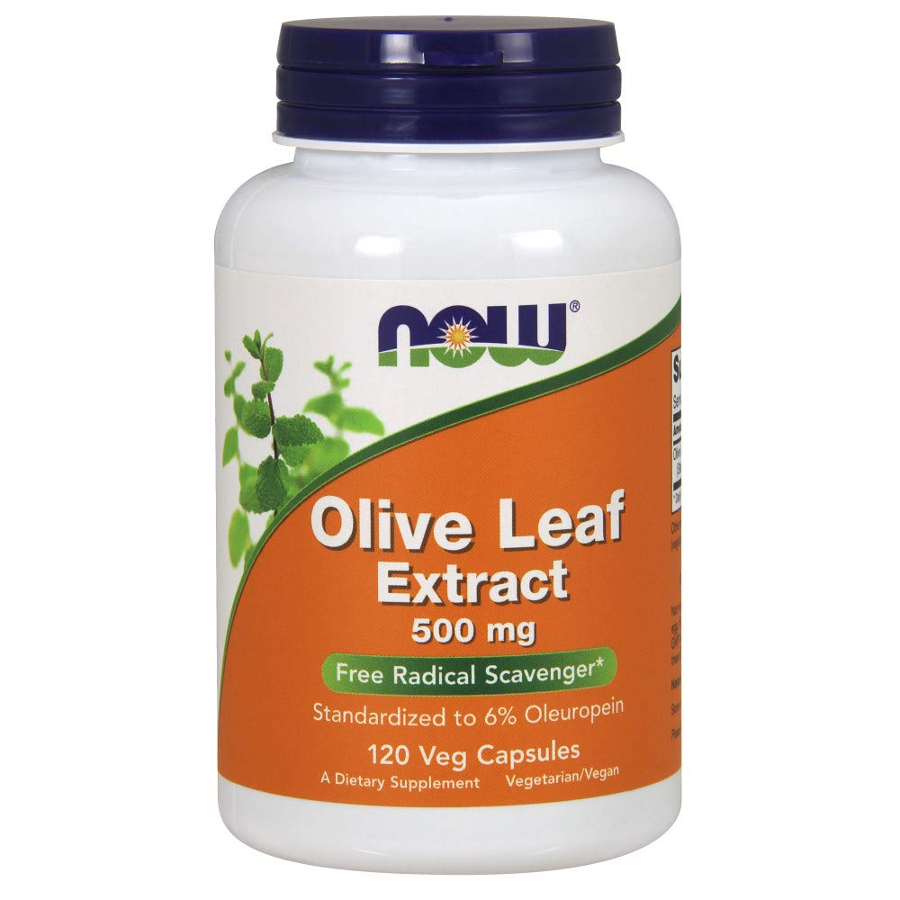 NOW® Olive Leaf Extract, 500 mg, 120 Veg Capsules
