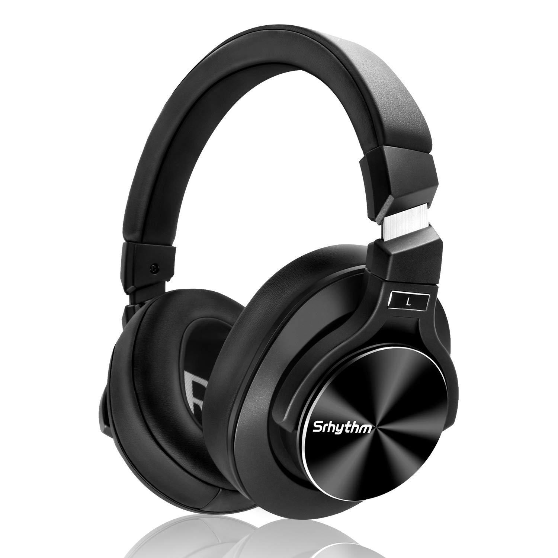 Auriculares Cancelacion de Ruido Activa Srhythm Bluetooth Headset con Microfono Hi-Fi Stereo Deep Bass Inalambrico Over-