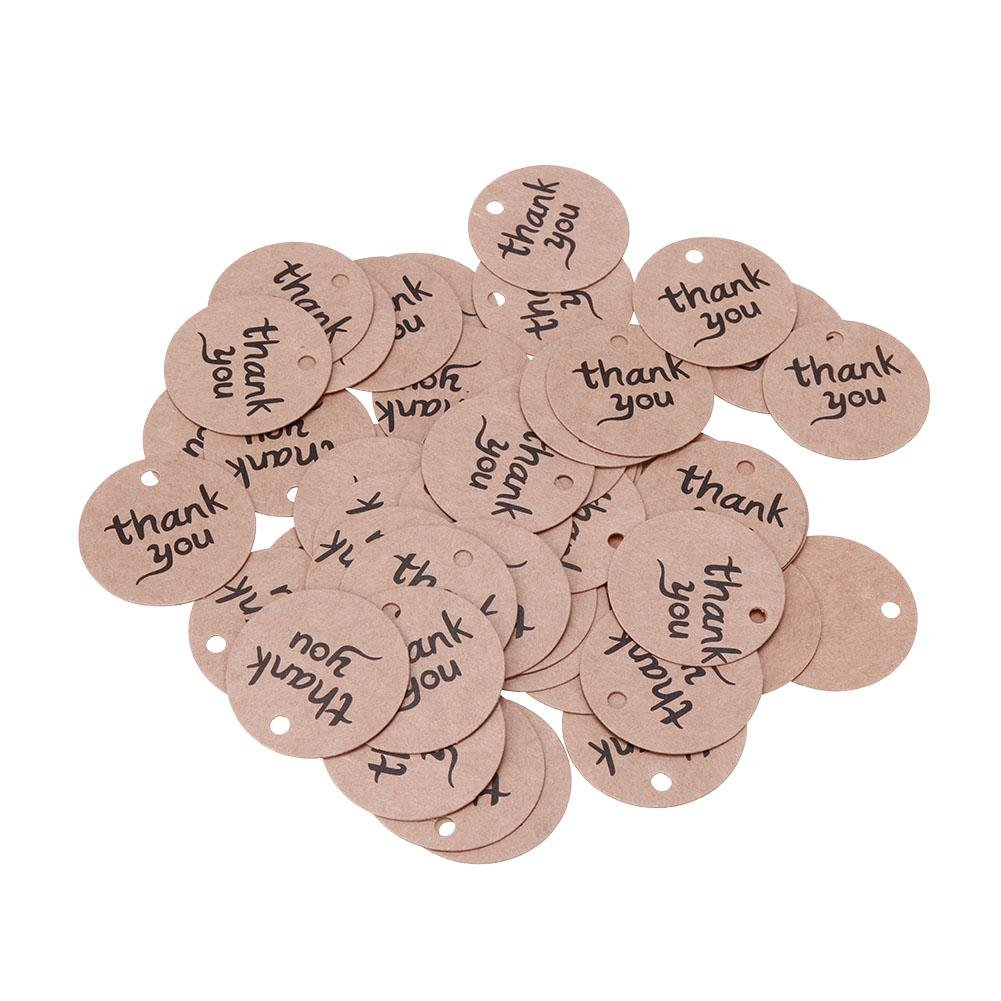 MonkeyJack 100 Pieces Kraft Paper Gift Tags with String Christmas ...