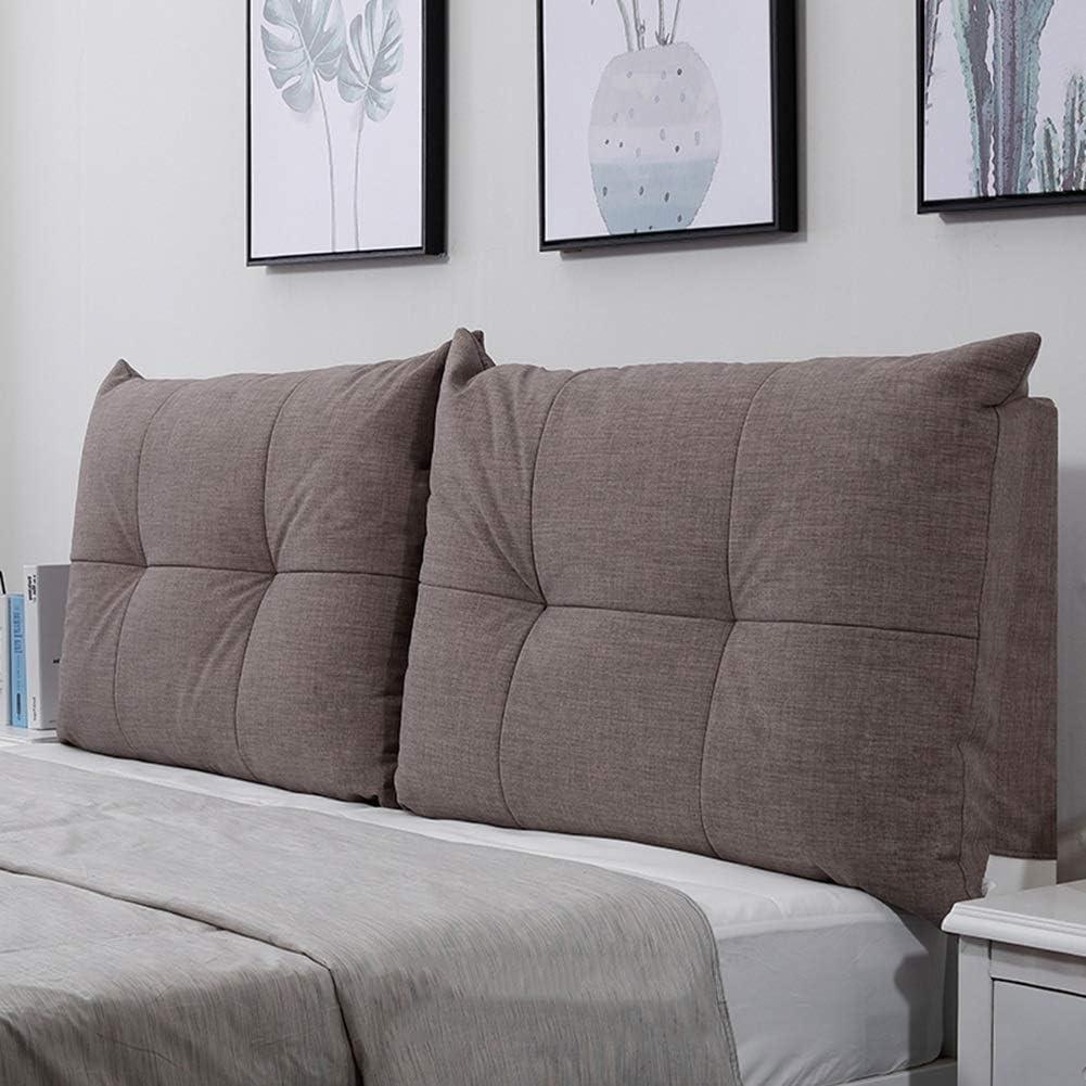 QIANCHENG Cushion Kopfteil Rückenlehnen Bett Kissen Stereoskopische Rückenlehne Reißverschluss abnehmbar Schlafzimmer Flachs Soft Case, 5 Farben, 9