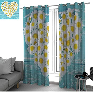 Amazon.com: Yellow and Blue Curtains for Bedroom/Living Room ...