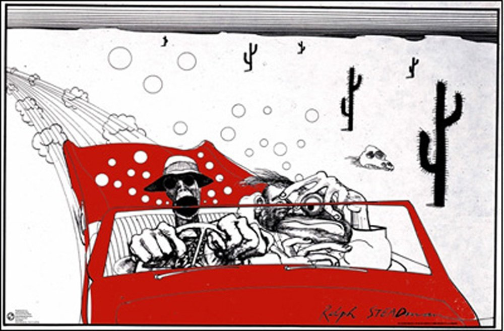 Amazon.com: Posterservice Ralph Steadman Fear and Loathing Poster ...