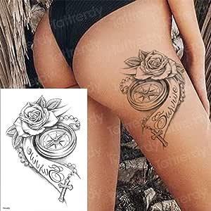 Handaxian 3pcs Tatuaje brújula Que Dura la Palabra Hombre Brazo ...