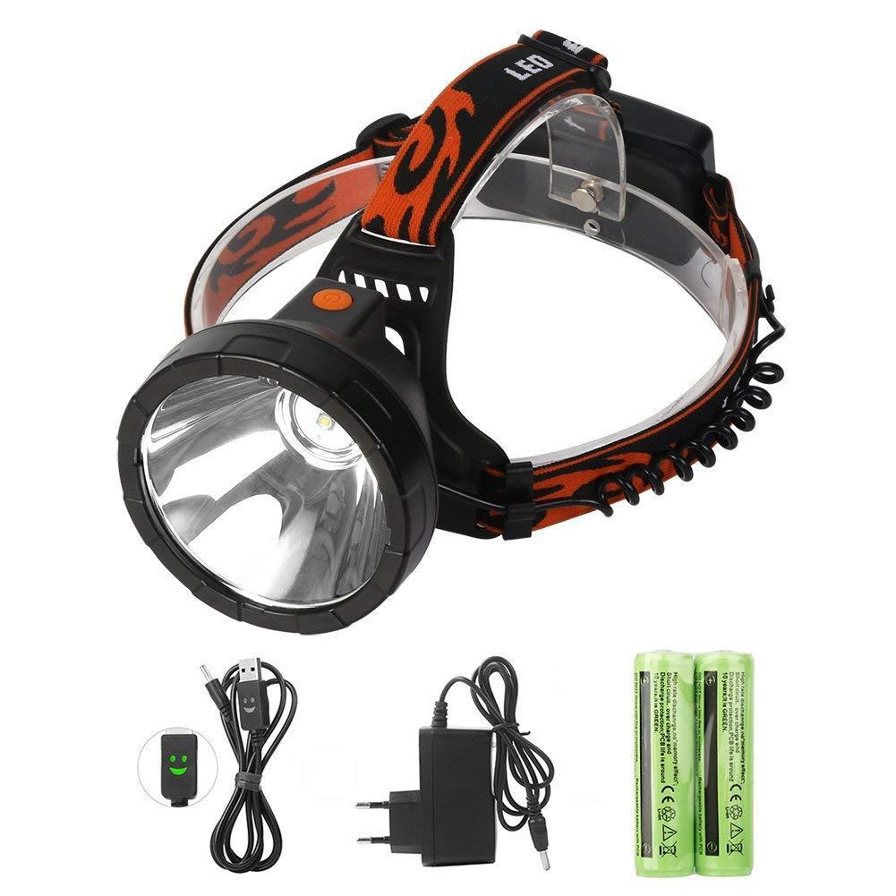 Luz Frontal LED Recargables Linterna de Batería Impermeable 4 Modo de Luz Linterna de Cabeza Para Trabajo al aire libre, Caza, Pesca, Espeleología,Ciclismo, Camping-Neolight W02