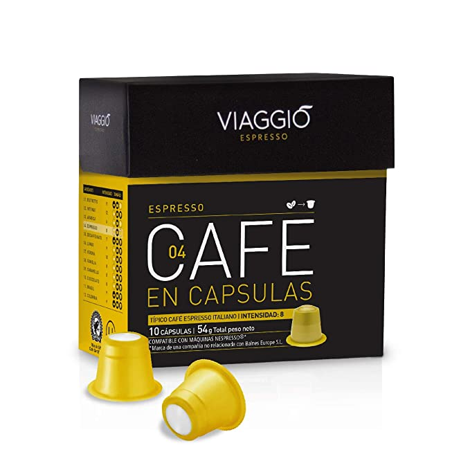VIAGGIO ESPRESSO - 60 Cápsulas de Café Compatibles con Máquinas Nespresso - ESPRESSO