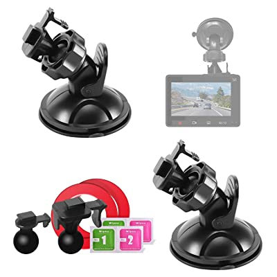 Mount Holder for YI Dash Camera,Suction Cup Mount for YI Dash Cam (2 Packs) with 2 Different Pivot Swivel Points,2 Wipes(Dry and Wet),2 3M Double Sided Adhesive Tapes