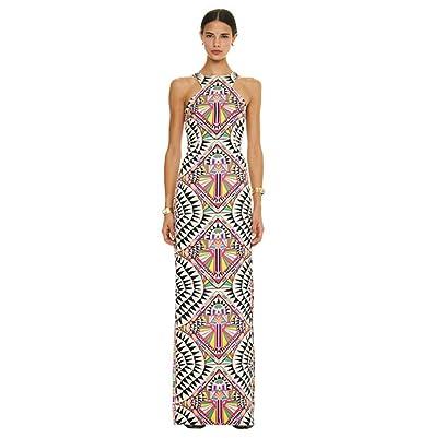 25a5f3e7e1306 WJPT Women s Long Ethnic Straight Dress Sleeveless Strapless Off Shoulder  Halter Digital Floral Print Beach Slim