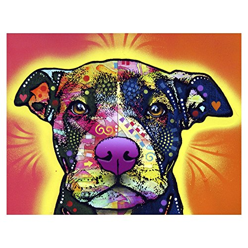 ImagesPrinted Love A Bull 10x13 Metal Artwork Ready to Hang Wall Decor by Dean Russo (Bull Art Terrier)