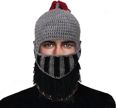 Cool Winter Red Tassel Knit Beanie Hat Cap Roman Cosplay Prop Knight Helmet Hat