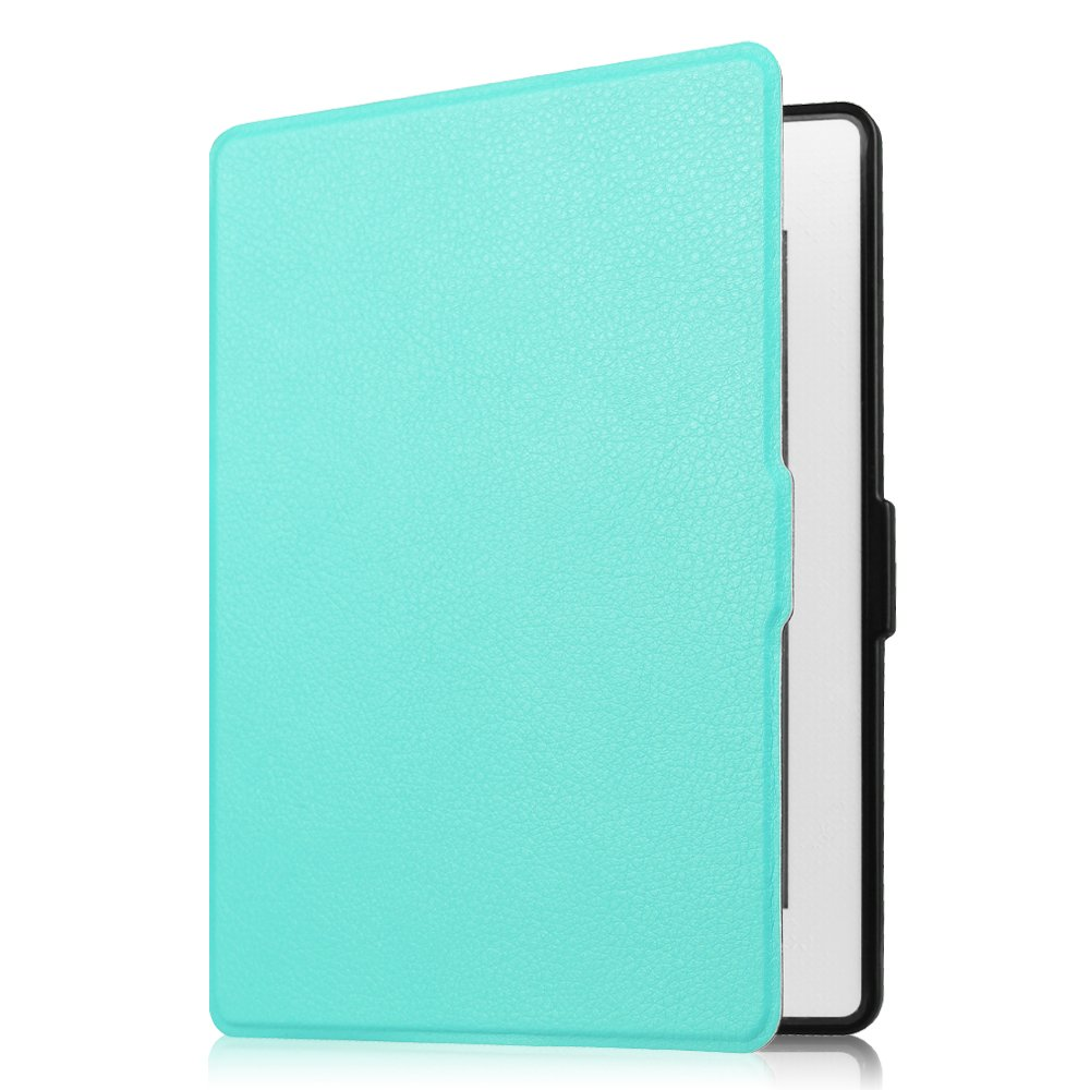 Fintie NOOK GlowLight Plus SlimShell Case - The Thinnest and Lightest Leather Cover for Barnes & Noble NOOK GlowLight Plus eReader 2015 Release Model# BNRV510 (NOT Fit Nook GlowLight 3 2017), Sky Blue