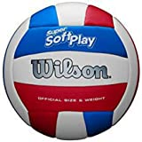 Wilson Super Soft Play Volleyball - White/Red