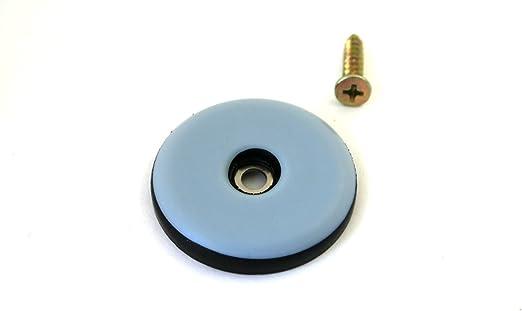 GLEITGUT 16 x Teflongleiter zum Schrauben rund 22 mm PTFE M/öbelgleiter 5 mm stark