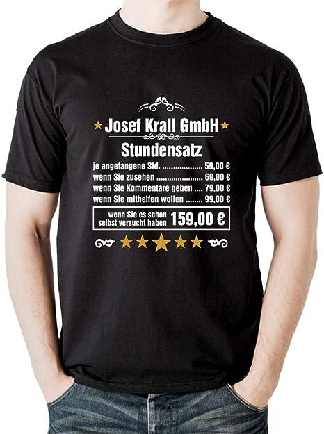 Stundenlohn Dachdecker T-Shirt Handwerker Bauarbeiter Fun waschecht Siebdruck