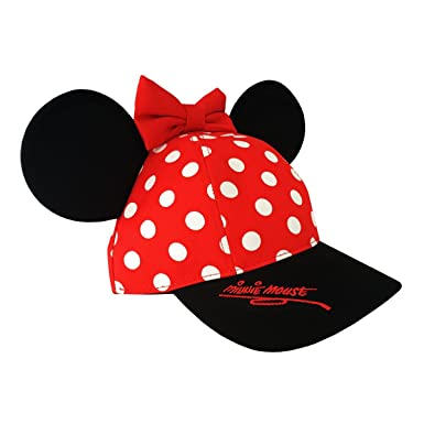 4b09db939aeec Amazon.com  Minnie Mouse Disneyland Polka Dot Snapback Cap with Ears -  Disney Parks Exclusive  Clothing