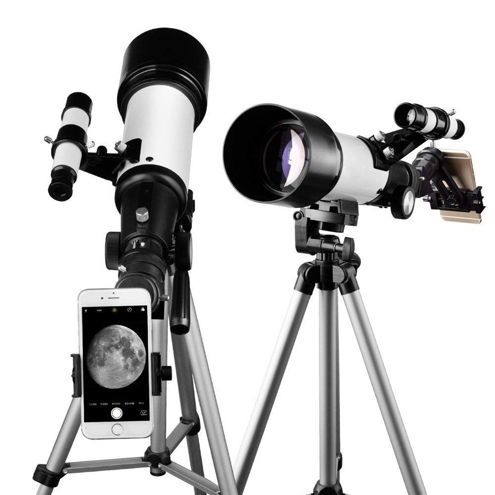 Telescope 70mm Apeture Travel Scope 400mm AZ Mount - Good Partner to View Moon and Planet - Good Travel Telescope with Backpack for Kids and Beginners by SOLOMARK