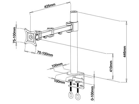 Iiglo Mm100 Monitor Mount For 1 Monitor Up To 27 Inches Amazon Co