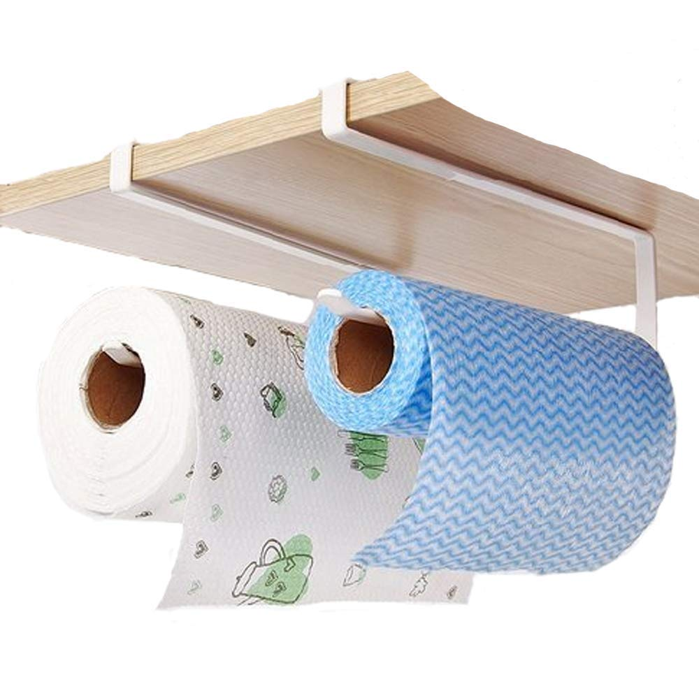 Kitchen Paper Hanger Sink Roll Towel Holder Organizer Rack Space Save Bathroom Roll Paper Shelf Hanging Door Hook Rack Holder LX ZJQ-1